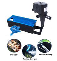 New 3 In 1 Multifunction Internal Aquarium Filter Fish Tank Top Filter Water Pump Air Circulation With Aqatic Filter Box