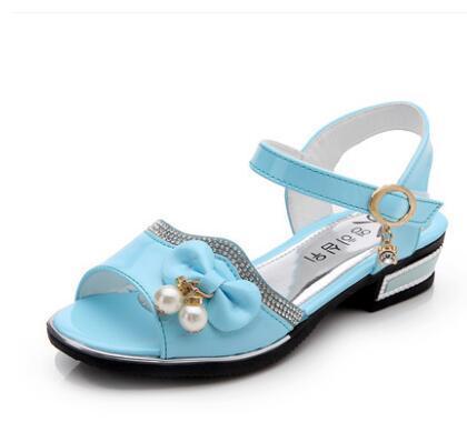 Новый цвет обувь для детей; обувь для девочек; туфли принцессы; модные для девочек сандалии детские дизайнерская простая обувь новые летние сандалии для девочек
