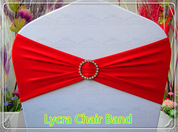 2/2--With Round Diamond Buckle-- Spandex/Lycra/Expand Bands/Chair cover sashes For Wedding Party Banquet Decorations
