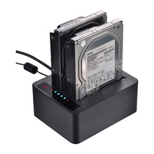 2.5/3.5inch Dual SATA HDD docking station 6Gbps USB 3.0 external with Offline Clone Function HDD Duplicator