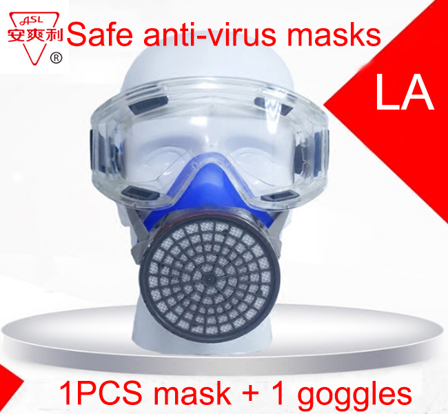 Workplace Safety Supplies Hch 309 Respirator Dust Mask 1pcs Mask Security & Protection 5pcs Filter High Quality Filter Mask Against Against Pm2.5 Graffiti Respirator Mask