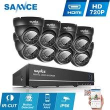 SANNCE 1080N AHD 8CH DVR 1.0MP 720P Outdoor CCTV Cameras Home Security System