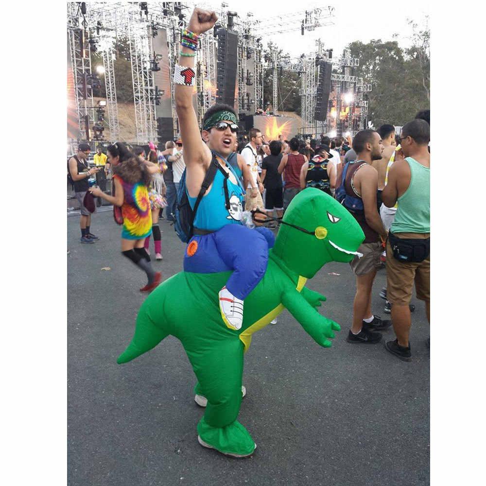 Caliente adulto carnaval disfraces de Halloween inflable pony trajes paseo en el cielo caballo aire traje divertido Cosplay personalizado