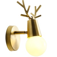 Modern Wall Lamp LED Bathroom Light Fixtures Bedroom Copper Wall Sconce Lamps Angle Adjustale Arandela Creative Antlers Lights
