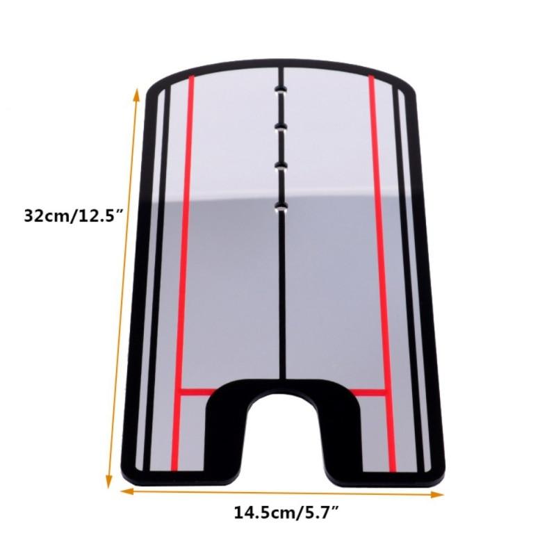 Golf mise miroir alignement entraînement aide balançoire TrainerGolf balançoire droite pratique oeil ligne Golf accessoires 32x14.5 cm