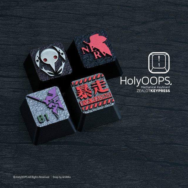 1pc HolyOOPS EVA Series Mechanical Keyboard Aluminium Alloy full Metal key cap Personality keycaps Two Three Times Anode