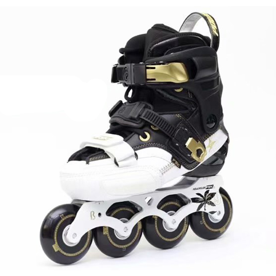 2019 POWERSLIDE S4 patins de Slalom professionnels chaussures de patinage à roulettes adultes patins à roues alignées sans patins à roues alignées Japy