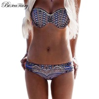2017 Sexy New Brazilian Sexy Bikinis Women Swimsuit Bandage Push Up Swimwear Female Bikini Set Swimming