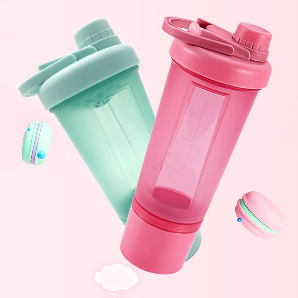 Женщина Спорт Whey шейкер, бутылка для протеина бутылка для воды девушка BPA бесплатно герметичный тренажерный зал для обучения фитнесу Спорти...