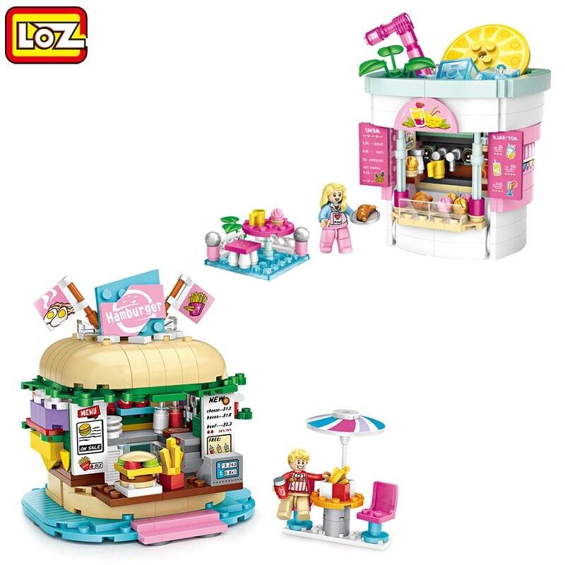 LOZ 1729 Amusement Park Drinking Shop 3D Model Small Mini Blocks Building Toy
