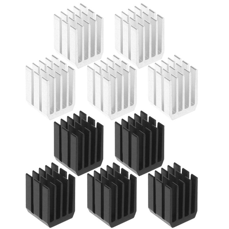 5Pcs/Set 9*9*12mm Aluminum Cooling Heat Sink Chip RAM Radiator Heatsink Cooler High Quality Hot Selling szytf 5pcs to 247 heatsink audio heatsink transistor heat sink block 38 34 12mm
