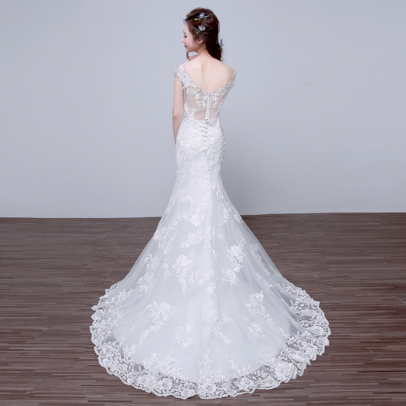WB514 Womens Wedding Dresses Robe De Mariage Country Western Bridal Dress V  Neck Sequin Appliques Lace Mermaid Wedding Dress-in Wedding Dresses from ... 16ac661e3c6c