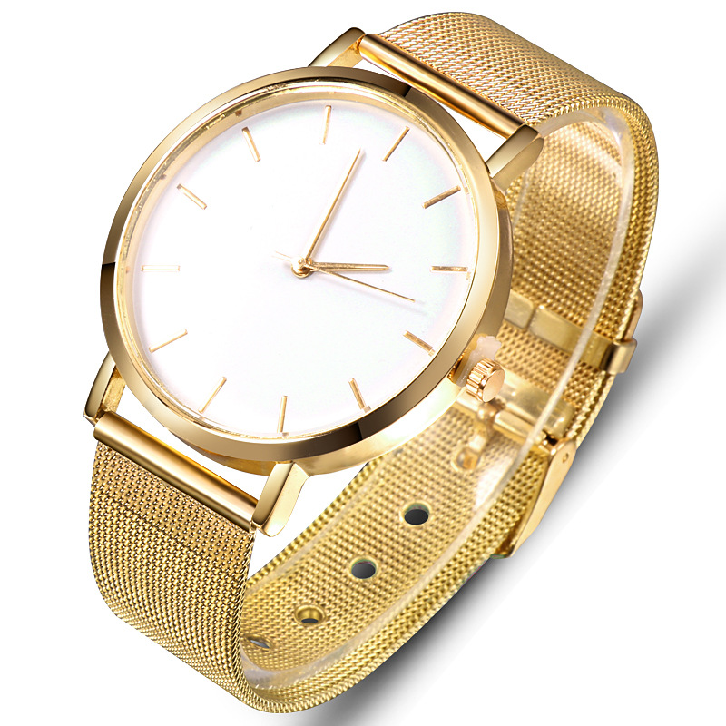 Luxury Gold Women's Watch Fashion Casual Quartz Wristwatch Lover's Watches Mesh Belt Clock reloj mujer relogio femino Saati Gift