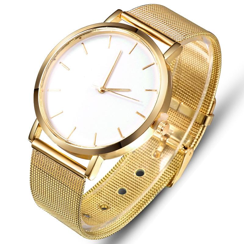 Luxury Gold Women's Watch Fashion Casual Quartz Wristwatch Lover's Watches Mesh Belt Clock reloj mujer relogio femino Saati Gift