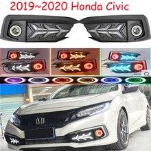 1set 2019 ~ 2020y auto stoßstange kopf licht für Honda Civic nebel licht auto zubehör LED DRL scheinwerfer für civic projektor objektiv licht