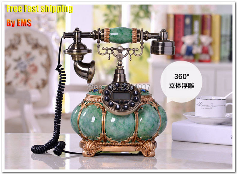 Fast Shiping Brand New House Vintage Telefone Antigo Novelty Corded Telephone Fixe Polyresin Cable Decorative Telephone CCC CE