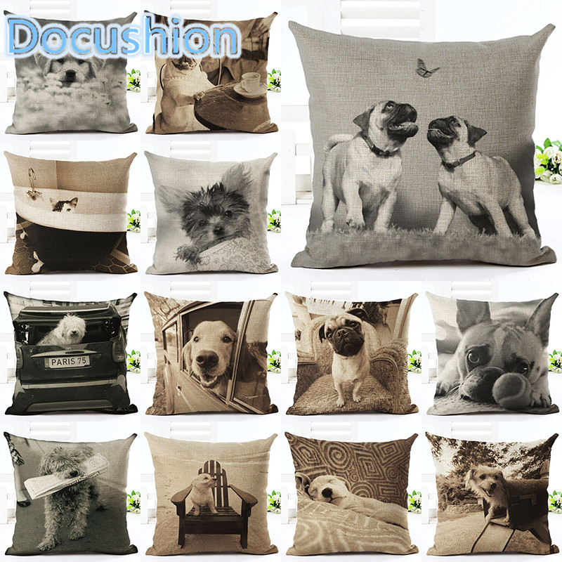 Hot Sale Angel Bull Terrier Cushion Covers Dog Pet 45x45cm Soft Material Pillow Cases For Kids Baby Girl Boy Bedroom Decor