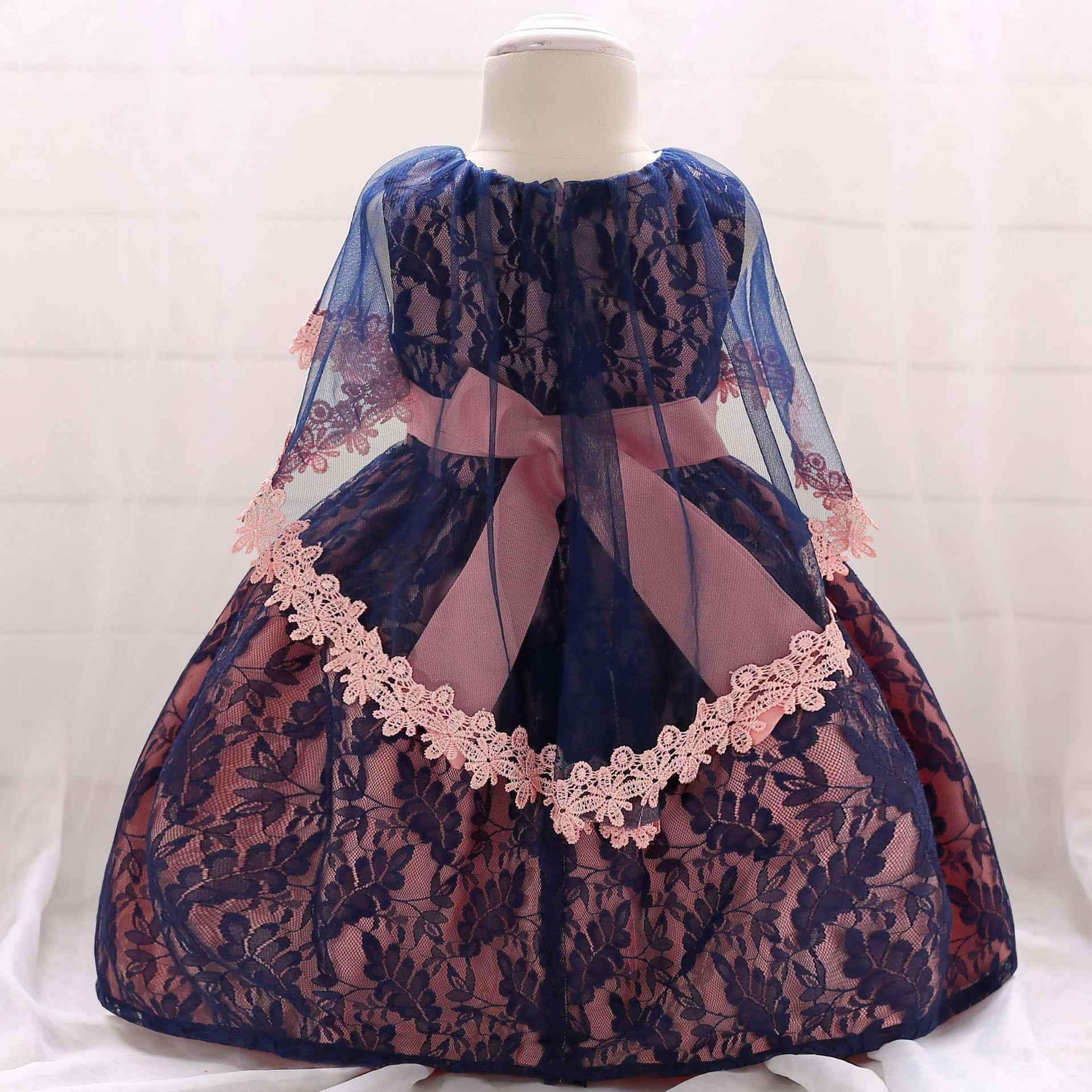W wieku 0-2 lat dziewczyny sukienka na imprezę kostium dla dzieci noworodka kwiat dziewczyny księżniczka ubrania sukienki pierwsza komunia chrzest vestido odzież