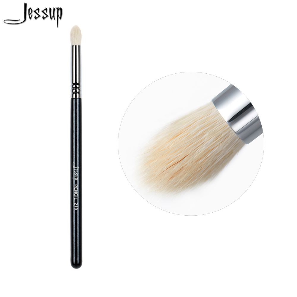 Jessup High Quality Professional Face brush Makeup brushes brush Make up Beauty tools Cosmetics Pencil lash line Goat Hair 219 jessup 10pcs makeup brushes sets beauty synthetic hair make up brush tool foundation powder lash brow grommer cosmetics tools