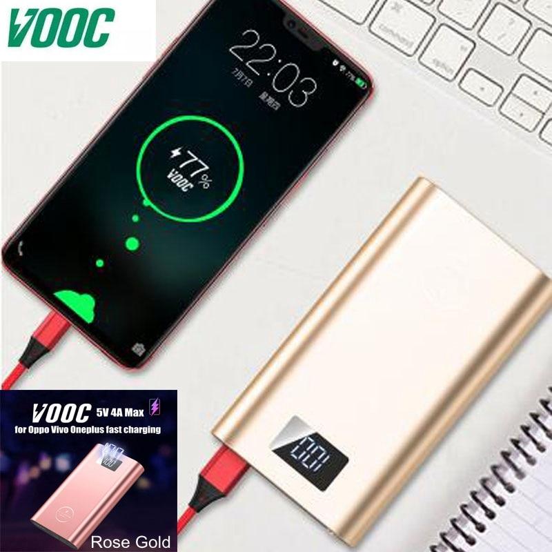 Lwizing 20000 mah batterie externe Vooc Dash Powerbank 5 V 4A 20 W 18650 chargeur Portable pour Oneplus 6 5 T 3 T One plus Oppo Vivo