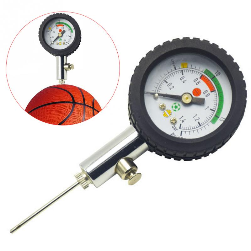 Soccer Ball Pressure Gauge Air Watch Football Volleyball Basketball Barometers