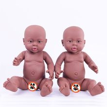 Chocolate Naked Baby Reborn Dolls Vinyl Doll Kid's Toys Gifts Shower Doll Nanny Tools Baby Doll Mold The the gift of the child(China)