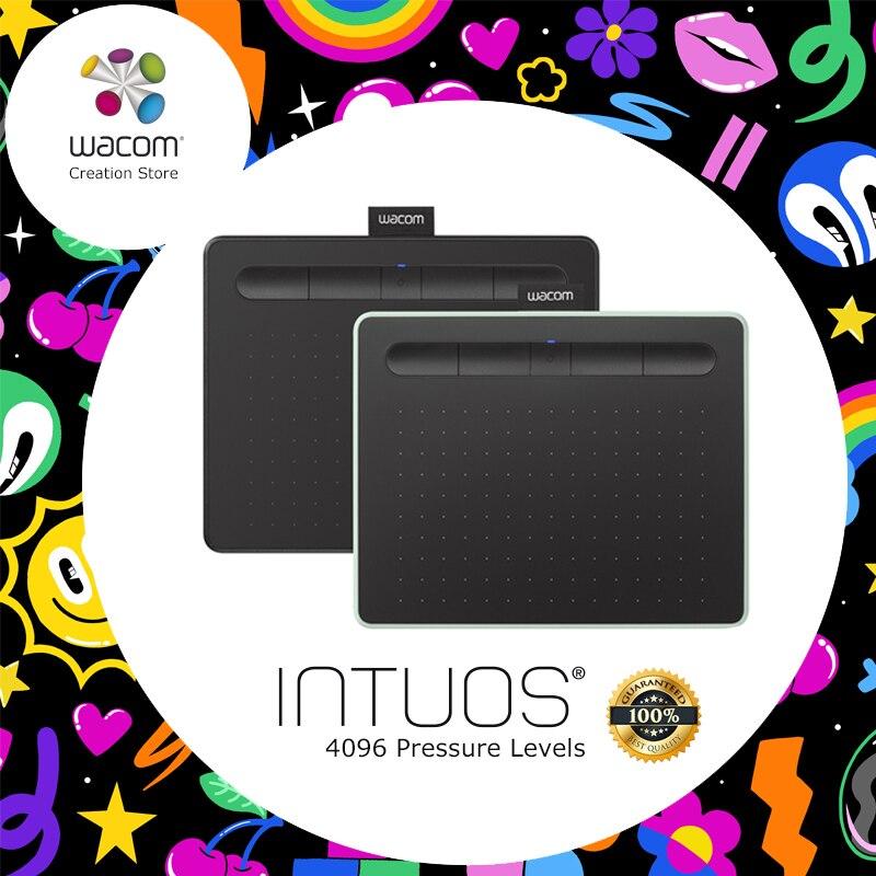 Wacom Intuos CTL-6100 Numérique Graphique Comprimés tablette de dessin 4096 Niveaux de Pression Moyen Taille avec Bonus Logiciel + paquet-cadeau