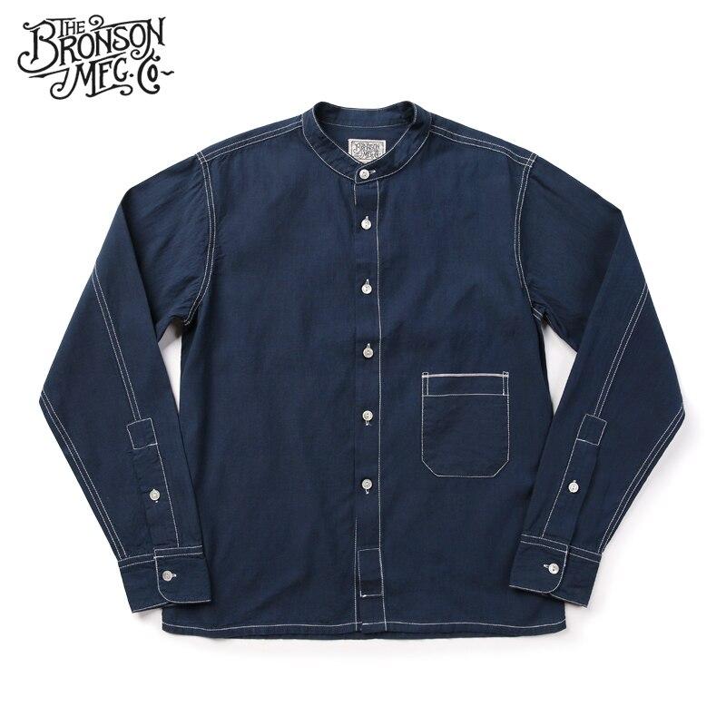 Bronson Vintage Hommes Linge de Chemises de Travail 1860 s Wabash Lisière Poche Workshirt Pour Hommes