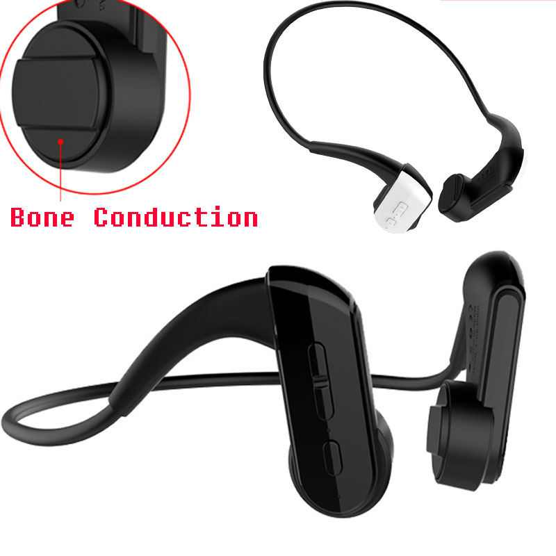 Bone Conduction Bluetooth Headphone Wireless Headphones Mic IP67 Waterproof Stereo Music Headset BT4.1 Sport Wireless Earphone 2017 new wireless headphones stereo bluetooth headset card mp3 player earphone fm radio music for music wireless headphone