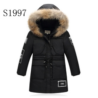 Thickening Hot Sale Winter Coat White Duck Down 7 14T Boy Winter Coat Warm Hooded Raincoat