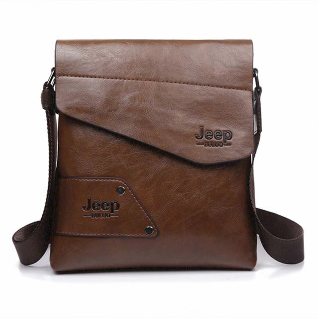 5787bbbbbc8d8 2019 Designer JEEP Men Messenger Bags Casual shoulder bag small Business Crossbody  bags for man Leather