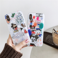 Phone Case For iPhone 6 6s 7 8 Plus Case iPhone X XS XR Xs Max Dream Shell Mickey Minnie Mouse Love Heart Fruit Case Soft Cover 2