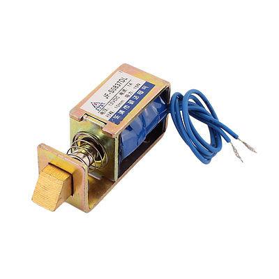 цены на JF-S0837DL DC 12V/DC24V  1A 15N Pull Push Open Frame Solenoid Electromagnet for Locks в интернет-магазинах
