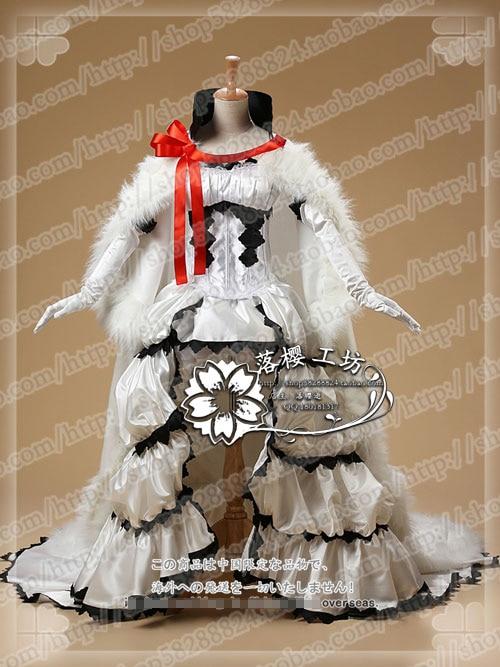 TSUBASA Sakura blanc reine robe uniformes Costume Cosplay livraison gratuite