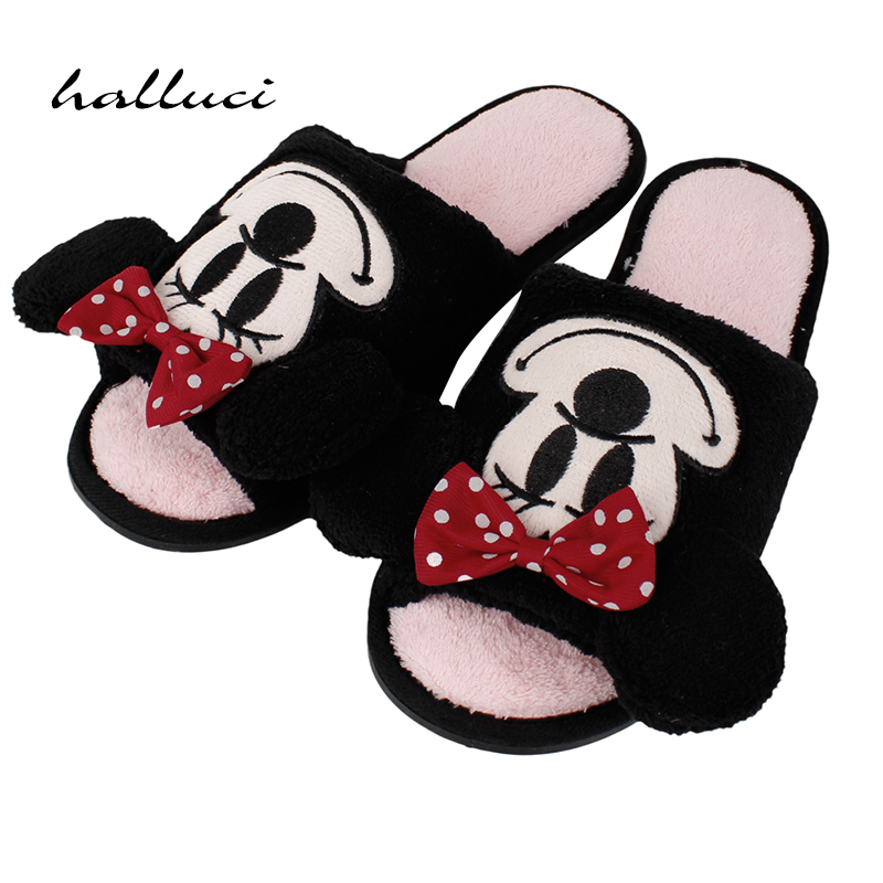 Esdy Cute Mouse Monster Cartoon Women/men Couples Home Slippers For Indoor Bedroom House Shoes Adult Warm Winter Christmas Flats cute sheep animal cartoon women winter home slippers for indoor bedroom house warm cotton shoes adult plush flats christmas gift