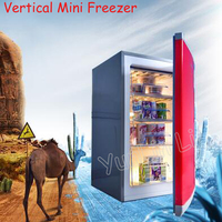 Вертикальный мини морозильник коммерческий и бытовой маленький размер и большая емкость быстрозамороженный боковой открывающийся ящик ти