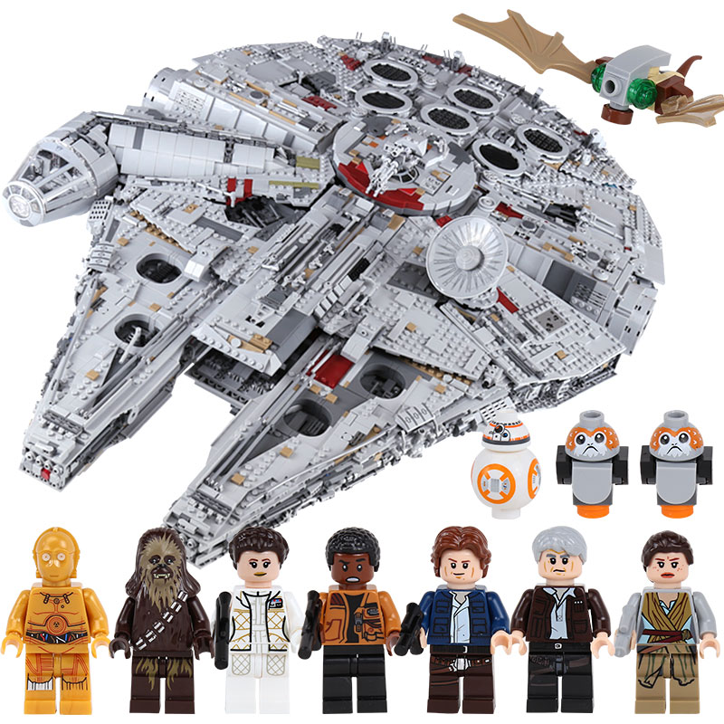LEPIN 05132 Star series War Ultimate Millennium Falcon Building Kit Block Children's Educational Gift Compatible With lego 75192 lepin 05040 y attack starfighter wing building block assembled brick star series war toys compatible with 10134 educational gift