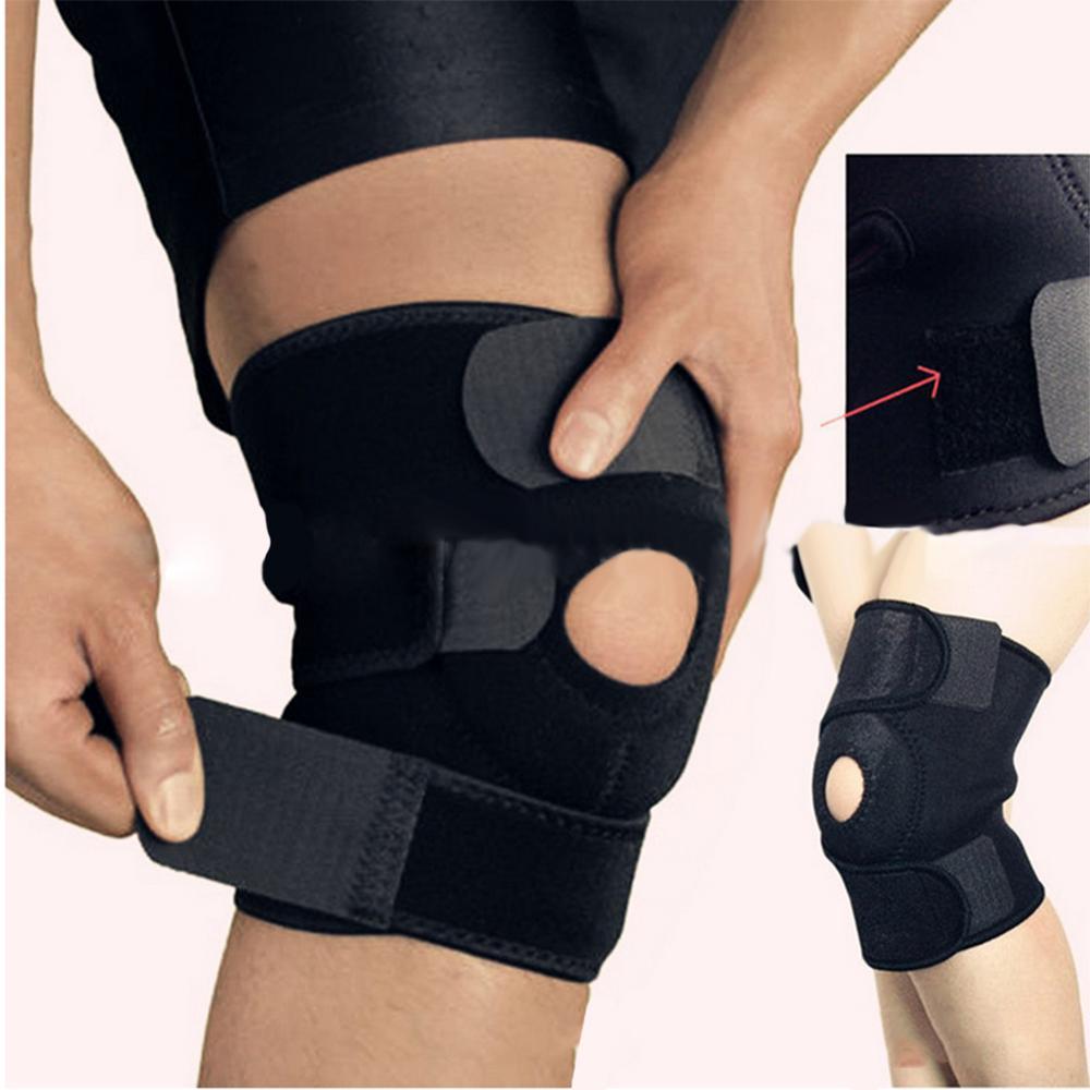 Adjustable Unisex Knee Pads Stabilizer Sports Outdoor Sport Black Knee Patella Support Brace Sleeve Wrap Knee Protectors 1pc