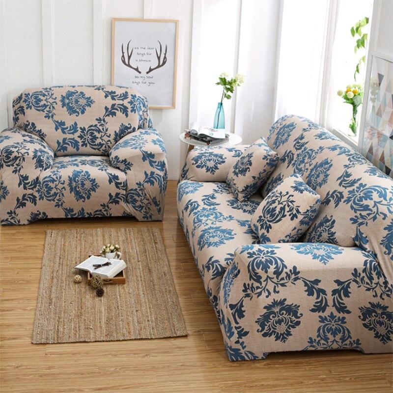 European Stretch Fabric Sofa Cover Fashion Printed Couch ...