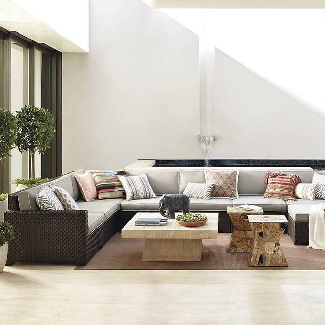 Sigma buona qualità profonda soggiorno usato in resina intrecciata ...