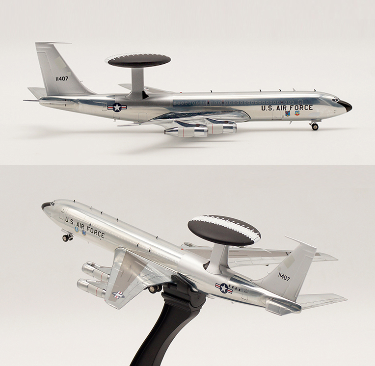 IF 1/200 USAF E-3B Sentry AWACS Boeing 707-300 polishing Alloy aircraft model Collection model bbox200 1 200 american frontier airlines boeing 737 200 aircraft model n1pc alloy collection model
