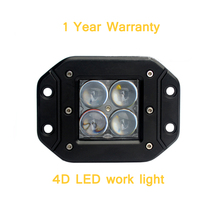 ECAHAYAKU 2 PCS 20W 4D LED Work Light Bar Mount Cube Pods fog Beam Offroad Driving for SUV ATV 4x4 4WD Truck Motorcycle Boat