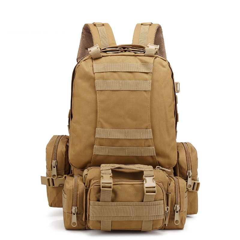 GYKZ Multifunction Molle Army Tactical Backpack Men Camo Military Rucksack 53L Outdoor Hiking Camping 3D Assault Backpack HY088 outlife new style professional military tactical multifunction shovel outdoor camping survival folding spade tool equipment