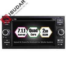 Android 7.1.1 Dos Din 7 Pulgadas de Coches Reproductor de DVD Para Ford Mondeo/Focus/Tránsito/C-MAX/S-MAX/Fiesta RAM 2G de Navegación GPS de Radio WIFI