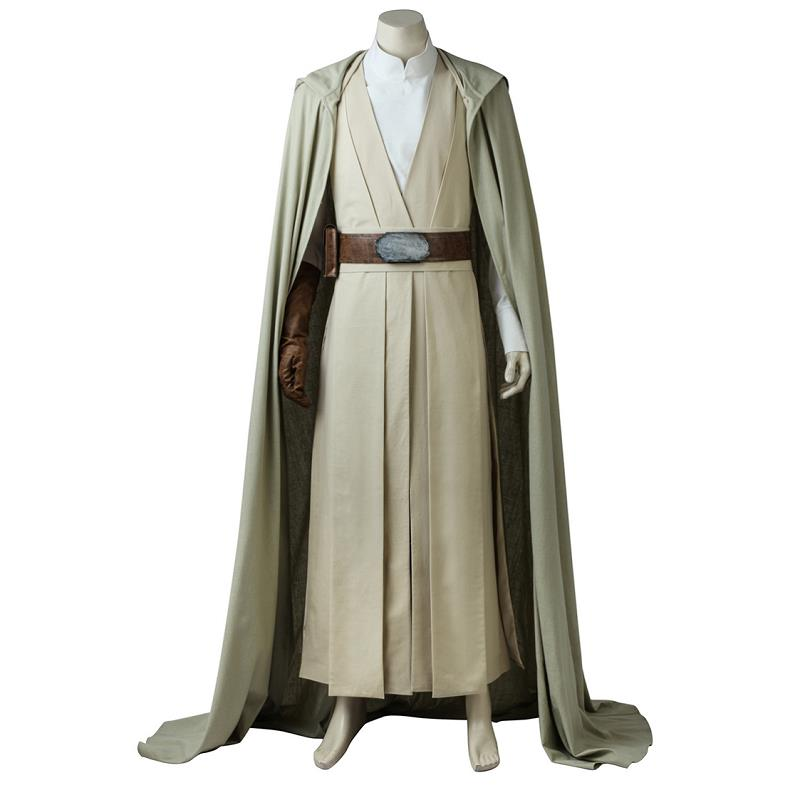 Star Wars The Last Jedi Cosplay Costumes Luke Skywalker New Arrival Cloak Cape Custom Made New Arrival Halloween Party For Men