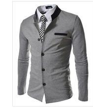 Модный Бренд мужская заклинание цвет Воротник Slim Fit Blazer Костюмы (без Рубашки и Галстук) (Азиатский Размер)