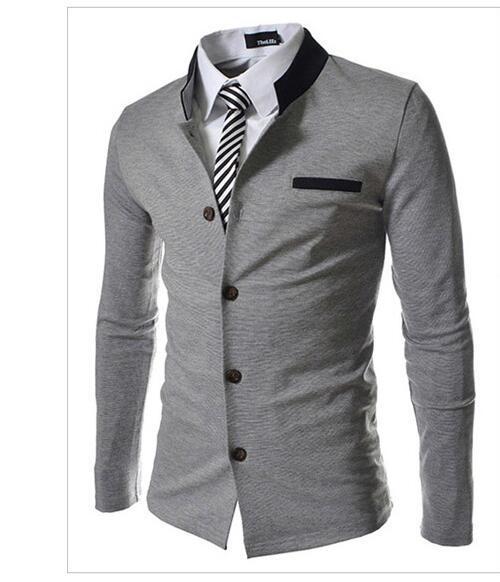 Marca de moda de Cuello del color del encanto de Los Hombres Slim Fit Blazer Trajes (sin Camisa y Corbata) (Tamaño de Asia)