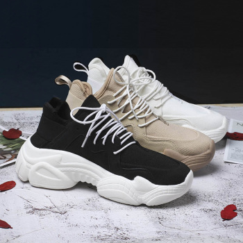 2019 New Women's Chunky Sneakers Basket Women Casual Platform Shoes Canvas Female Trainers Ulzzang Dad Shoes  High Top Sneakers