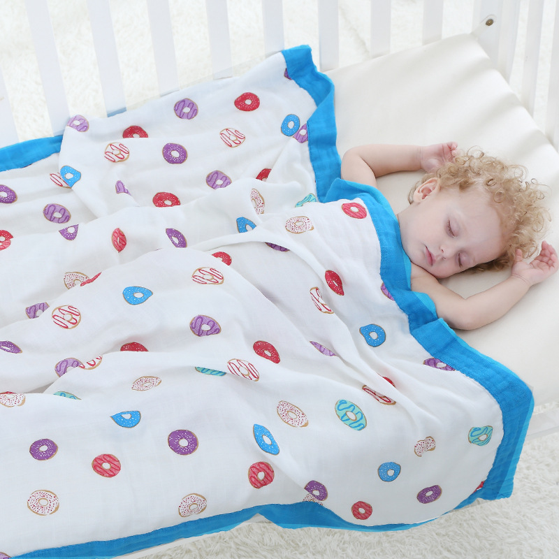 Four Layer 100% Bamboo Baby Blanket Newborn Baby Swaddling Super Comfy Bedding Blankets Swaddle Wrap Babies Muslin Blankets