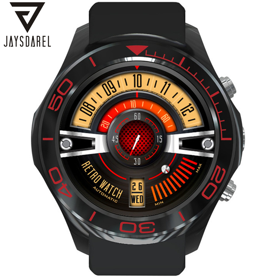 JAYSDAREL S1 Heart Rate Andriod 5.1 Smart Watch GPS 512MB 3G 4G WIFI Camera Pedometer Bluetooth SIM Card Smartwatch Phone goldenspike x01 plus android 5 1 bluetooth smart watch mtk6572 support 3g wifi gps single sim micro sim heart rate monitor